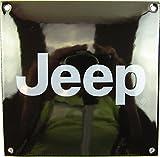 Neues Emaille Schild Jeep, 12cm x 12cm, Classic Werbeschild Reklameschild 50er Jahre Life Style Retro Fifties