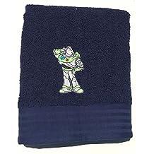 """Toy Story–Buzz Lightyear ~ azul bordado toalla de baño (28""""X 50"""""""