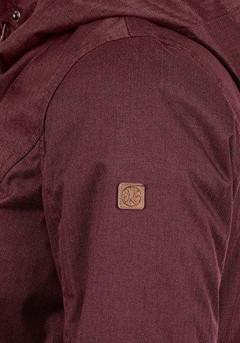 DESIRES Bella Damen Übergangsmantel Parka Jacke Mit Kapuze, Größe:XS, Farbe:Wine Red (0985) - 5