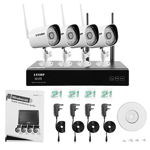 4CH WIFI NVR mit 4 PCS-IP-Kamera-Überwachungssystem 1 Mega Embedded Network Video