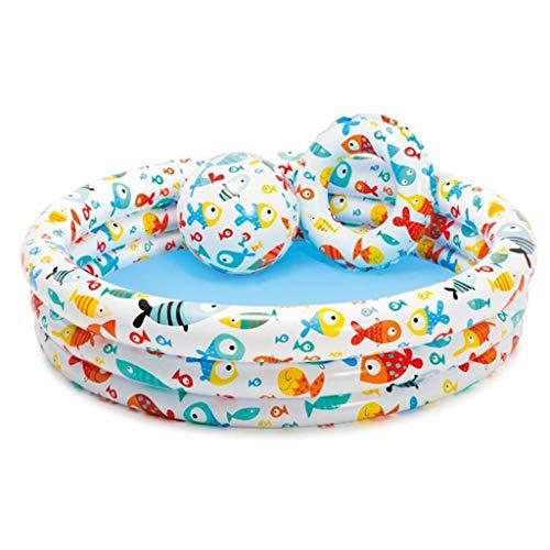 YANFEI YANFEI Tragbare Indoor Outdoor Baby Schwimmbad Luftkissen Kinder Aufblasbare Badewanne Runden Becken Sommer Wasser Pool Spielzeug 203 * 89 cm
