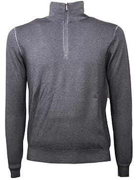 C0504 maglione lana uomo CRUCIANI grigio melange sweater men
