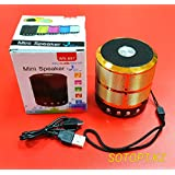 Mini Bluetooth Lens Wireless Stereo Speaker With Mic, Supported For All Devices(Color May Vary)