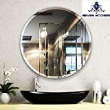 Seven Horses 24 Inch Round Frameless Bevelled Wall Mirror (Round 24 Inch)