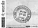 Stempel - Weihnachtsstempel Vintage FROHE WEIHNACHTEN MERRY . CHRISTMAS - Poststempel im Shabby chic Look für Ihre Grüße zum Fest - Toller Bildstempel von zAcheR-fineT