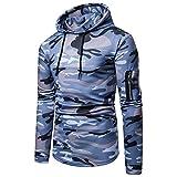 Herren Hoodie,TWBB Camouflage Pullover Kapuzenpullover Mit Seiten Tasche Casual Oberteile Herbst Winter Mantel Outwear Sweatjacke Hemd
