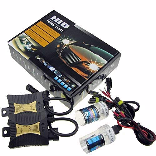 JINYJIA 12V 55W Xenon HID Conversion Kit Headlight for Car Vehicle Replacement Bulb, H7/8000K