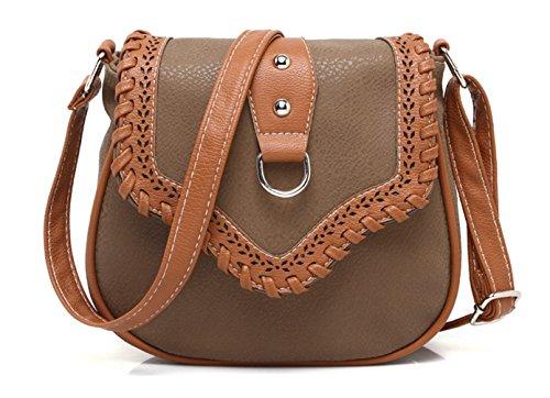 Keshi neuer Stil Damen Handtaschen, Hobo-Bags, Schultertaschen, Beutel, Beuteltaschen, Trend-Bags, Velours, Veloursleder, Wildleder, Tasche Café