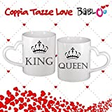 Coppia Di Tazze Love You And Me King And Queen