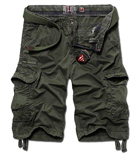 Brinny Herren Cargo Shorts Men Board Short Pants Armee Grün