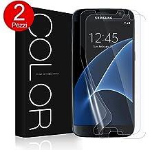 Pellicola Galaxy S7, [2 Pezzi] G-Color Trasparente Pellicola in TPU Ultra Sottile, Alta definizione Senza Bolle Protezione dello Schermo per Samsung Galaxy S7,(Garanzia a vita)