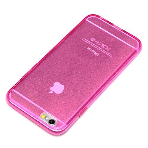 "deinPhone Apple iPhone 6 6S (4.7"") SILIKON CASE Hülle deinPhone Eule Transparent Hot Pink"