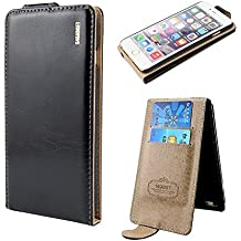 Honest Quality Quality Iphone 5 5G 5S SE Black Leather Flip Case Cover with Two Card Slot