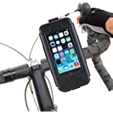 Tigra Sport BikeConsole Cycling Bike Kit Incuding Waterproof Case Cover and Handlebar Stem Mount for iPhone 5/5S/SE - Black