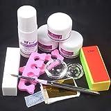 11 in 1 Nail Art Kit DIY Acrylic Nail Liquid Powder 3D Mold