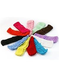 12 couleurs bandeau de crochet serre-tête cheveux headband pr bébé fille enfant