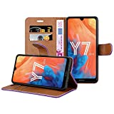 iCatchy For Huawei Y7 2019 Case, Wallet Book [Stand View]