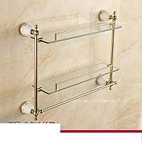 Stile europeo bagno monostrato bagno mensola in vetro/ parete Monte antico bagno doppio comò-D
