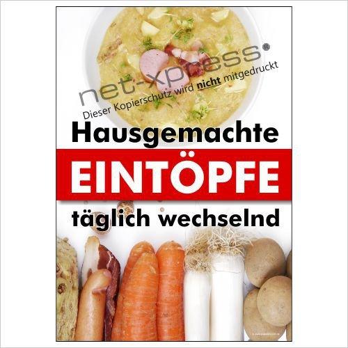 Cartel de guiso Restaurantes, Comedores etc. A1 Cartel de publicidad cartel Una olla