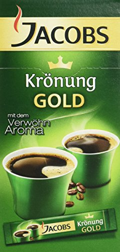JACOBS Krönung Löskaffee Sticks, 10 Instantkaffee Getränke, 18 g