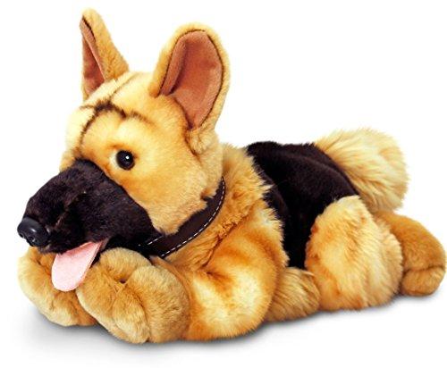 Lashuma Keel Toys Plüschtier Hund Schäferhund, Kuscheltier liegend ca. 30 - Hund Weiches Maul