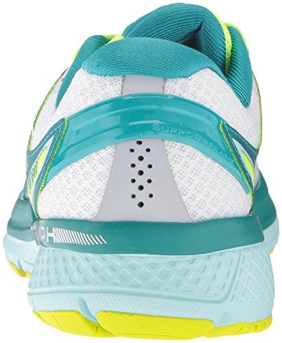 Saucony Triumph Iso 3, chaussures de course femme Bianco (White/Tea/Citron)