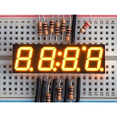 Yellow 7-segment clock display - 0.39