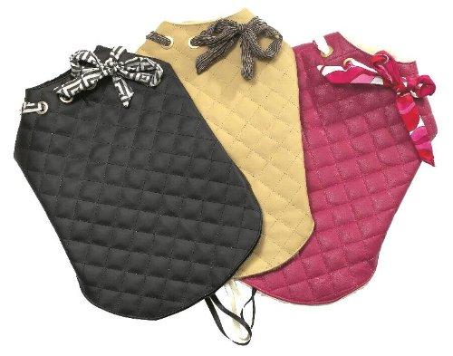 Hundemantel CITY CHIC in 3 Farben (schwarz, beige und pink) und 7 Größen (20 - 46cm) -