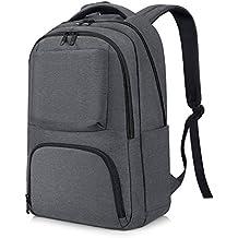 REYLEO Mochila Backpack Para Portátil Hasta 15,6 Pulgadas del Negocio Ocio Diario Viaje Para Hombre Mujer Estudiante - 21L Gris