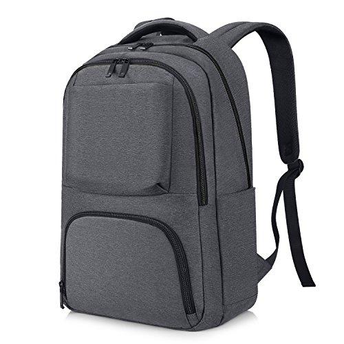 Imagen de reyleo  backpack para portátil hasta 15,6 pulgadas del negocio ocio diario viaje para hombre mujer estudiante  21l gris