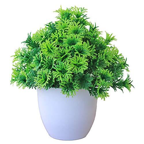 Gulin Künstliche Simulationsanlage im Topf, Simulationsanlage Topfkiefer, Kleine Bonsai-Topfpflanzen-Grünpflanze-Ausgangsblumen-Dekoration
