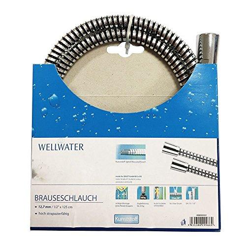 Brauseschlauch 12,7 mm-1/2 125 cm Kunststoff drehbar Wellwater