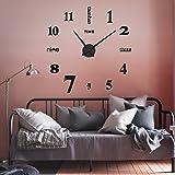 3D Wanduhr, Infreecs Moderne Clock Metall Rahmenlose Wandaufkleber groß Uhren Style Raum Home Dekorationen Tolles Geschenk