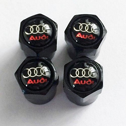 AUD schwarz schwarz glänzend logo Staub Ventilkappen. A3A4A5A6TT RS quattro Q3Q5Q7, Avant Turbo Allroad E-Tron A8RS4R8RS6RS8A1Q2 (Primos-logo-cap)