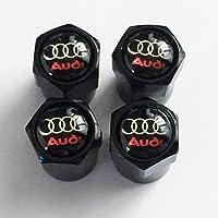 Tapón de válvula negro AudiPara A3,A4,A5,A6,TT, RS, R8Quattro, Q3,Q5,Q7Avant Allroad Turbo e-tron, A8,RS4,RS6,RS8,A1 yQ2.