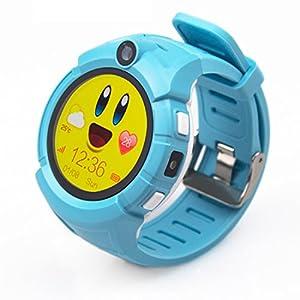 PINCHU Q360 Kinder Smart Uhren GPS Ort Kind Touch Smartwatch SOS Anti-Verlorene Baby Uhr Pk Q50 Q90,Blue
