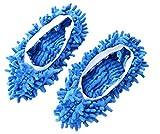 Hausschuhe für die Reinigung der Böden kleiner Räume wie Bad, Büro und Küche blau