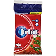 Orbit - Chicle sin azúcar con sabor a fresa - 4 paquetes x 10 grageas