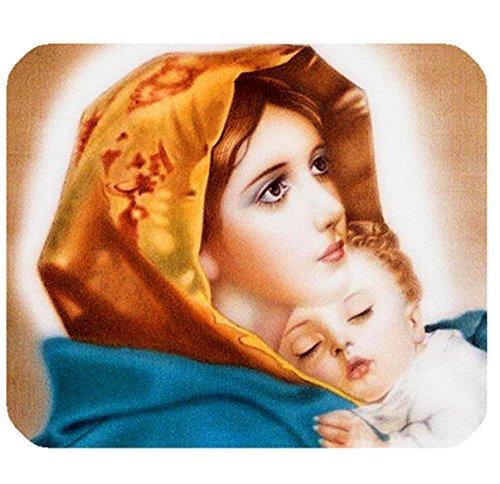 Mary Christ und ihr Baby Jesus Print Rechteck Mousepad Gaming Mauspad