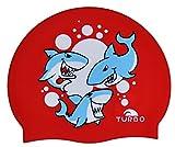 TURBO Badekappe aus Silikon SHARKS Hai rot