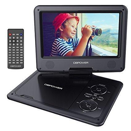DBPOWER 9.5' Lecteur DVD Portable, pile rechargeable de 5 heures, avec écran orientable, compatibilité carte...