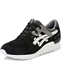 ASICS Uomo Turn Scarpa Gel Lyte III BLACK/WHITE hl6b1 9010