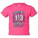 Camiseta niño Real Madrid Campeones de Europa 13 decimotercera Hala Madrid - Rosa, 9-11 años