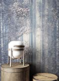 NEWROOM Tapete Grau Bäume Wald Natur Vliestapete Creme Vlies moderne Design Optik inkl. Tapezier Ratgeber