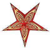 Guru-Shop Faltbarer Advents Leucht Papierstern, Weihnachtsstern Apollon, 60x60x20 cm, Star Fensterdeko, 5 Spitzen