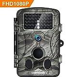 Earthtree Wildkamera Fotofalle Full HD 1080P 12M Jagdkamera mit 120°Weitwinkel Objektiv Fotofalle, 42 Low Glow Infrarot Leds, 20m Nachtsicht, 2.4' LCD Display, Wasserdichte