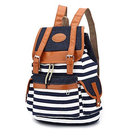 Wasserdichter Segeltuch-Spielraum-Rucksack, breathable wandernder Bergsteigen-Rucksack Ultraleichter Reitlaptop-Rucksack Unisexschultasche, schwarz, blau ( Color : Blue )