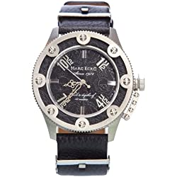 Marc Ecko E12584G1 - Reloj de pulsera para hombre, negro/plata