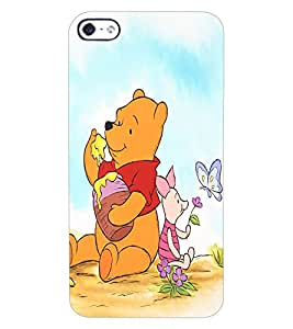 ColourCraft Cute Teddy Design Back Case Cover for APPLE IPHONE 4S
