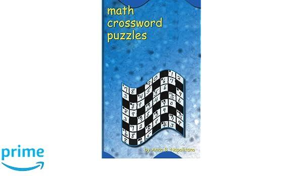 Math Crossword Puzzles: Amazon.co.uk: Anna Napolitano: 9781585001309 ...